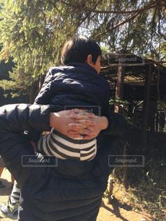 肩車の写真・画像素材[2184904]