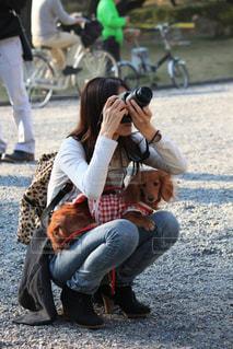 春,カメラ,桜,ダックスフンド,桜散策