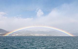 虹,雨上がり,晴れ間