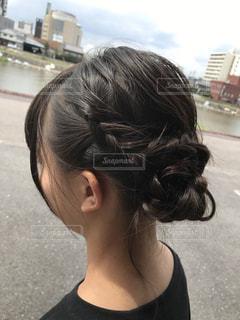 プロのヘアアレンジの写真・画像素材[2282123]