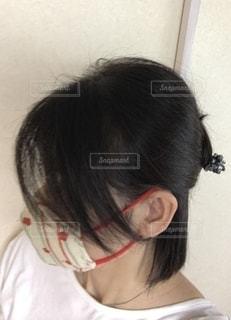 和柄マスクの写真・画像素材[2661088]