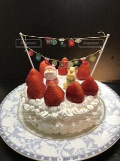 手作りクリスマスケーキの写真・画像素材[2823586]