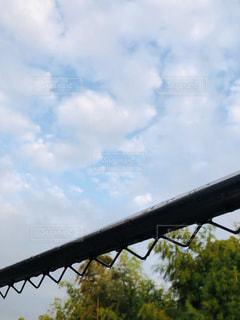 空,木,雨,屋外,雲,晴れ,外,物干し竿,雨天,梅雨,雨の日,くも,はれ,洗濯竿,束の間
