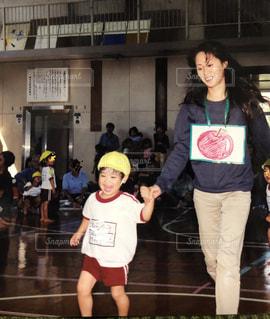 親子,楽しい,笑顔,運動会,障害物競走
