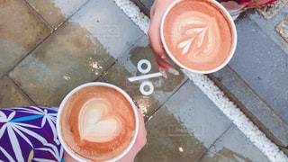 カフェ,京都,茶色,ハート,着物,旅行,お出かけ,ミルクティー色