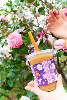 公園,花,カップ,ミルクティー,和柄,カップホルダー