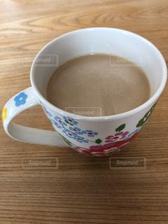 カフェ,コーヒー,カップ,木目,花柄