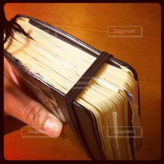 分厚い手帳の写真・画像素材[3019935]