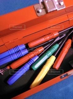 工具箱のクローズアップの写真・画像素材[3350212]