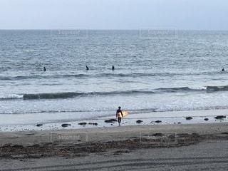 海,空,サーフィン,後ろ姿,砂浜,波,サーファー,鎌倉,由比ヶ浜