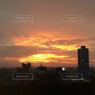 夕暮れの新宿の写真・画像素材[2012253]