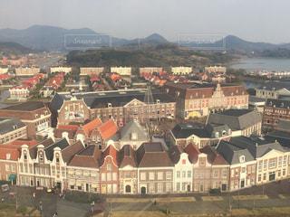 建物,街並み,茶色,洋風,レジャー,ベージュ,ハウステンボス,高い,ミルクティー色,アムステルダム広場
