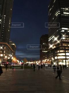 都会の夜の写真・画像素材[2027447]