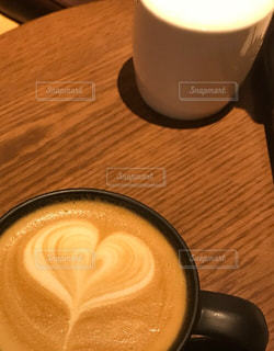 ハートコーヒーの写真・画像素材[2038091]