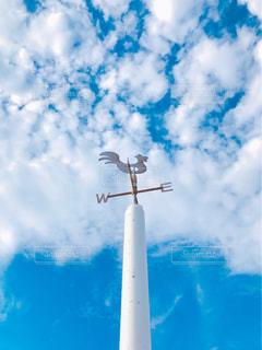 見上げたら雲がふわふわの写真・画像素材[2305934]