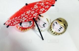 傘,赤,達磨,だるま,縁起,ミニ傘