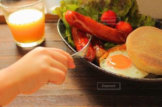 あたたかい朝食の写真・画像素材[3214746]