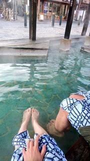足湯の写真・画像素材[2096466]