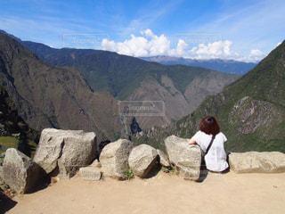 自然,空,後ろ姿,世界遺産,山,大自然,後姿,旅行,旅,ひとり旅,マチュピチュ,ペルー,南米,バックパッカー