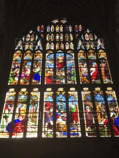 ステンドグラス大聖堂の写真・画像素材[2034384]