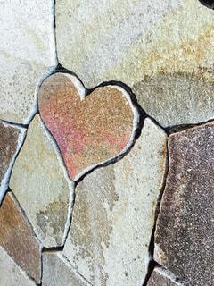 屋外,ピンク,ハート,石畳,壁画,マーク,舗装,ハートの小石