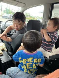 アイス,兄弟,息子,おでかけ,お父さん,ぱぱ