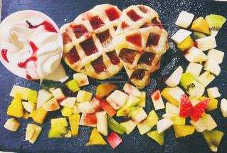 スイーツ,ランチ,オレンジ,いちご,デザート,フルーツ,果物,ワッフル,梨,りんご,ソフトクリーム,キウイ,柿,バナナ