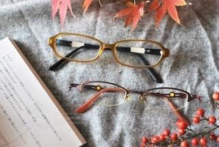 秋仕様にメガネの写真・画像素材[2758480]