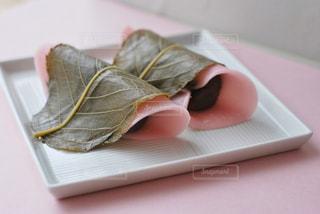 桜もちの写真・画像素材[2987374]