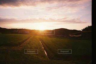 夕陽の写真・画像素材[3473607]