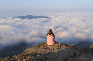 山頂で見た雲海の写真・画像素材[4381180]