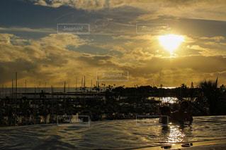 空,太陽,ボート,プール,水面,光,旅行,ヨット,ハワイ,サンセット,ヨットハーバー,ハワイ旅行