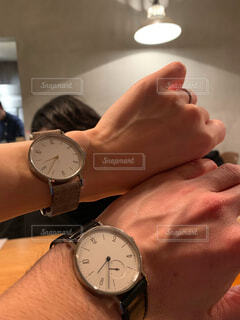 お揃いの腕時計の写真・画像素材[4314736]
