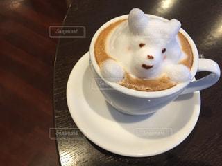 カフェ,コーヒー,COFFEE,カフェラテ,cafe,ラテアート,ミルク,くま,ドリンク,ラテ,ベージュ,ブレイクタイム,おしゃれ,フォトジェニック,ミルクティー色