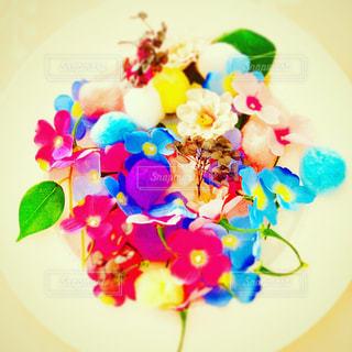 カラフル,花びら,可愛い,パステルカラー,おしゃれ,ファンシー,白皿,インスタ映え,映える,素敵な画像