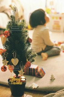 クリスマスツリーを飾りましたの写真・画像素材[2823370]