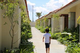 風景,沖縄,男の子,まったり,10歳,夏服,半袖