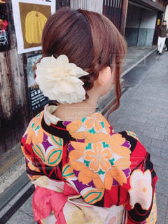ファッション,京都,後ろ姿,女の子,着物,人,和服