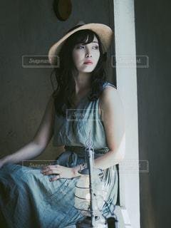 帽子をかぶった少女の写真・画像素材[2792237]