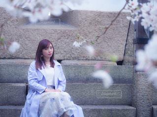 女性,風景,春,桜,お花見,人,桜の木,さくら