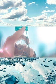 プールで女の子の写真・画像素材[4093799]