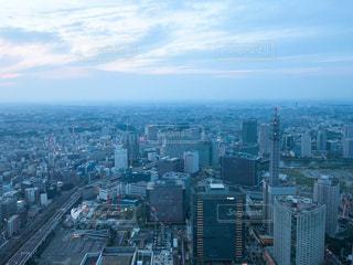 街並み,屋外,雲,夕焼け,散歩,横浜,レジャー,お散歩,みなとみらい,ライフスタイル,おでかけ,一望,MARINE & WALK YOKOHAMA