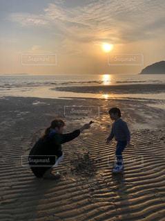 父母ヶ浜の夕焼けの写真・画像素材[2374112]