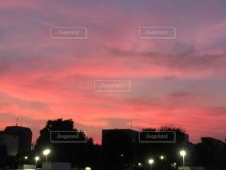 空,綺麗,ピンクの夕焼け,パステルからのビビット
