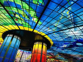 カラフル,ステンドグラス,美麗駅,おしゃれ天井