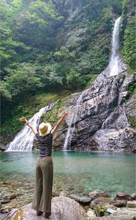 自然,夏,水面,山,滝,岩,Tシャツ,マイナスイオン,夏服,半袖