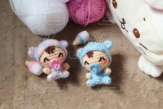 かわいい,カラフル,人形,赤ちゃん,手作り,ベビー,編み物