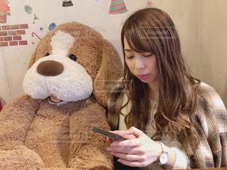 クマとカフェの写真・画像素材[2074545]