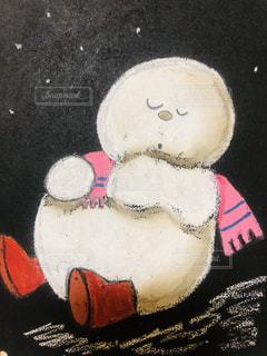 白,雪だるま,黒板,ホワイト,手書き,インスタ,ボード,チョークアート