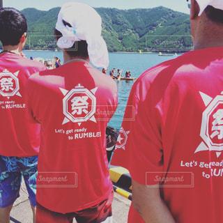 男性,風景,空,屋外,赤,水面,男,人物,人,日本,祭り,フィルム,日中,フィルム写真,フィルムフォト,スポーツ フォーム